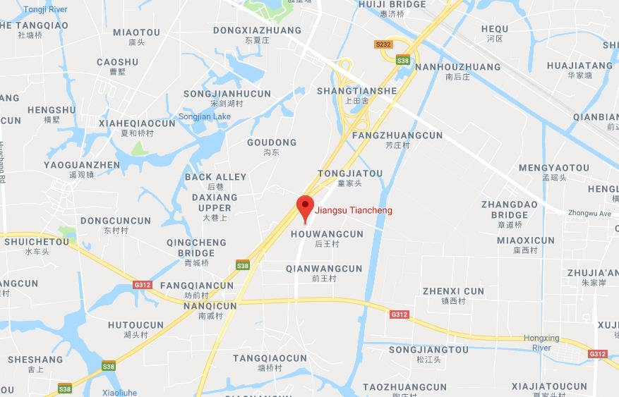 Jiangsu Tiancheng Group map